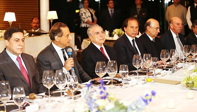 Resultado de imagem para MICHEL TEMER EM JANTA COM POLITICOS
